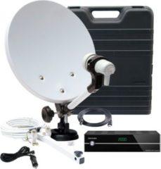 TELESTAR Camping-Satanlage im Koffer mit Single-LNB und IMPERIAL HD 5 kompakt DVB-S Receiver