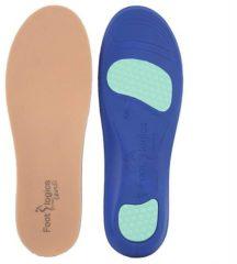 Blauwe Footlogics Inlegzool SENSI - M (41-43). Volle lengte inlegzool. Milde ondersteuning, demping en draagcomfort voor zeer gevoelige voeten