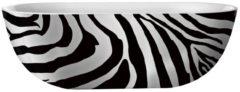 Douche Concurrent Ligbad Vrijstaand Best Design Ovaal 86x180x60cm Hoogwaardig Acryl Color-Zebra met Badwaste