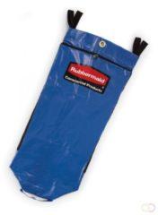 Recyclingzak met universeel symbool, Rubbermaid blauw