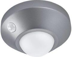 Zilveren Ledvance Armatuur op batterijen LED: voor muur, NIGHTLUX® Ceiling / 1,70 W, 4.5 V, uitstralingshoek: 120°, Cool White, 4000 K, materiaal behuizing: polycarbonaat (pc)/acrylonitrile butadiene styrene (abs), IP20, 1-bundel