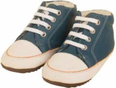 Blauwe Dulis babyslofjes sneaker bootie petrol