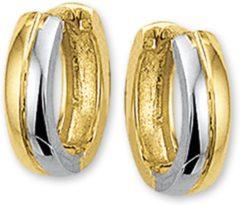 Zilveren The Jewelry Collection Klapoorringen 3,5 mm Bol - Bicolor Goud