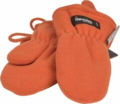 P&T Wanten Kinderen 3j. Donker Oranje met Koordje, Micro Fleece