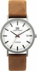 Zilveren Danish Design titanium herenhorloge Rhine White Camel Date Large IQ31Q1273