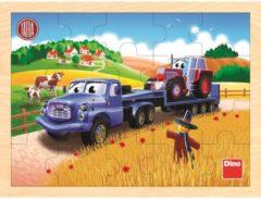 Dino Toys Houten Legpuzzel Truck met Tractor