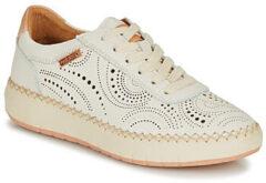 Witte Pikolinos Sneaker Mesina W6B-6996 Nata Off White