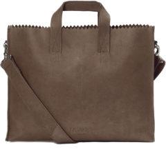 Donkerbruine Myomy - My paper bag - Businessbag - Aktetas - Donkerbruin