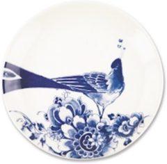 Blauwe ROYAL DELFT - Peacock Symphony - Gebakbordje 17cm