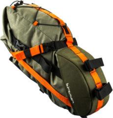 Birzman - Packman Travel Saddle Pack - Fietstas maat 6 l, zwart/olijfgroen