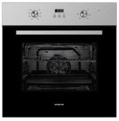 Roestvrijstalen Inventum Inbouw oven, 65L, hetelucht, digitale timer, rvs, 60 cm