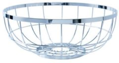 Present Time Koken & Tafelen Fruit basket Open Grid metal Zilverkleurig