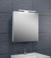 Douche Concurrent Spiegelkast Larissa 60x60x14cm Aluminium LED Verlichting Stopcontact Binnen en Buiten Spiegel Glazen Planken