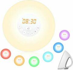 Witte Discountershop Wake up light | FM Radio | Alarm | Wekker | Snooze | 6 Verschillende Kleuren | Multi Kleur | 10 lichtinstellingen |