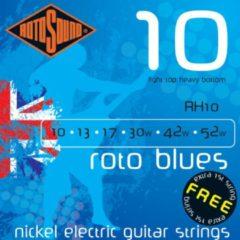 Rotosound Roodo blauws RH10 10-52 nikkel LT/HB e1 dubbelt