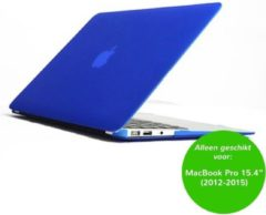 Blauwe CasualCases Glanzende hardcase hoes - MacBook Pro Retina 15.4 inch (2012-2015) - blauw + inclusief US keyboardbescherming