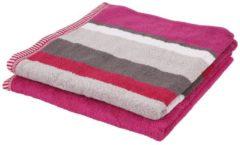 Rosa SEASTAR Duschtuch, 2er-Set, pink, 70x140cm