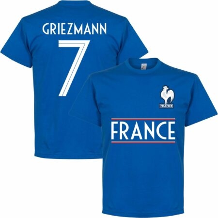 Afbeelding van Retake Frankrijk Griezmann 7 Team T-Shirt - Blauw - L