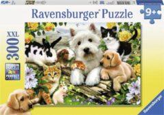 Roze Ravensburger puzzel Dierenvriendjes - Legpuzzel - 300 stukjes