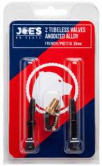 Rode Joe's No Flats tubeless prestaventielen (aluminium, set) - Reserveonderdelen banden