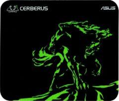 ASUS Cerberus Mat Mini Zwart, Groen Game-muismat