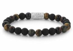 Rebel & Rose Rebel and Rose RR-80048-S Rekarmband Beads Mad Tiger Twist zilverkleurig-bruin-zwart 8 mm M 17,5 cm