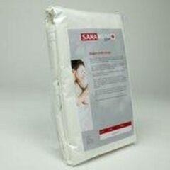 Witte Sanamedi Silver matrasshoes 140x200x30 cm - anti allergie - huisstofmijt en allergeenstof dicht.
