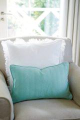 Riviera Maison Summer Jacquard Pillow Cover - sierkussenhoes - 50x30 cm - mint