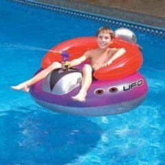 Rode Poolstyle Zwembad luchtbed stoel met waterpistool