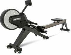 Grijze Spirit Fitness CRW800 Professionele Roeitrainer / Roeimachine / Roeiapparaat - Inklapbaar - Uitstekende Garantie - Fitness & CrossFit Apparaat - Fitnessapparaat - Cardio Apparaat - Geschikt voor Thuisgebruik of Commercieel gebruik