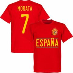 Merkloos / Sans marque Spanje Morata Team T-Shirt 2020-2021 - Rood - L