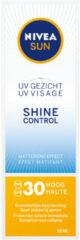 NIVEA SUN Gezichtszonnecrème Shine Control Matterende - SPF 30 - 50 ml