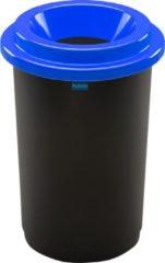 Blauwe Plafor Prullenbak 50L, gemakkelijk afval recyclen – afval scheiden, afvalbakken, vuilnisbak