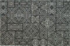 WOOOD Exclusive Vloerkleed 'Renna' 155 x 230cm, kleur Zwart/Wit
