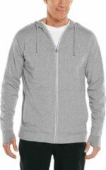 Coolibar uv werende full zip hoodie voor heren lumaleo zip up grijs