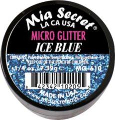 Blauwe Mia Secret Micro Glitter Acrylpoeder Ice Blue
