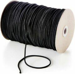 Zwarte Allesvoordeliger elastiek 5 meter - diameter 3 mm - tentstok elastiek