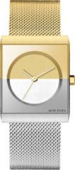 Jacob Jensen 526 quartz zilver en goud - edelstaal (Milanees) band 3 ATM (handen wassen)