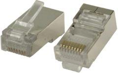 Valueline RJ45 Connector 10 sts voor stugge CAT5 kabel kunststof/metaal