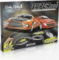 Jollity Works Wonkey Monkey - Racebaan - Auto Race - Wedstrijd - 5V - Met twee Auto's - Race - 2.68 m