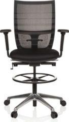Hjh OFFICE Arbeitsstuhl Arbeitshocker TOP WORK 98 mit Armlehnen (höhenverstellbar)