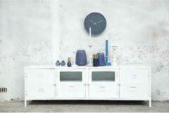 Tv-meubel Locker Vintage Glass Wit Giga Meubel