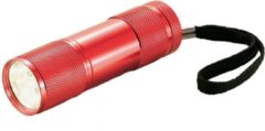 HD Collection Xd Collection Zaklamp Quattro Led Batterijen 9 Cm Rood