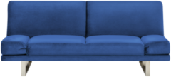 Marineblauwe Slaapbank fluweel marine-blauw YORK