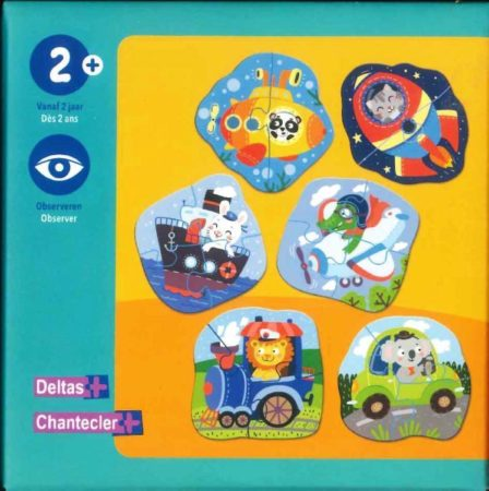 Afbeelding van Oranje Deltas Eerste puzzels - voertuigen / Premiers puzzles - véhicules
