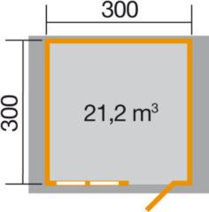 Blokhut Neckerau 1 Gr. 2 380 x 330cm
