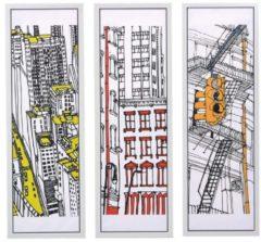 Bilder-Set, 3-tlg. Colorful New York miaVILLA bunt