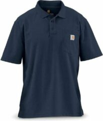 Blauwe Carhartt Contractor's Work Pocket Navy Polo Heren