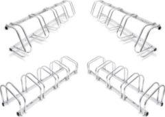 Relaxdays 5er Set Fahrradständer Mehrfachständer Fahrradhalter Bügelparker Wand und Boden