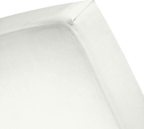 Afbeelding van Cinderella Basic - Percaline katoen - Hoeslaken - Eenpersoons - 80x200 cm - Ivory
